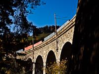 Tehervonat a Wagnergraben-Viadukton