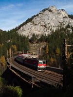 The ÖBB 1144 229 seen between Breitenstein and Wolfsbergkogel
