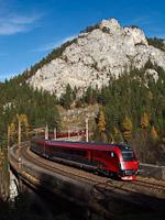 Railjet a Kalte Rinne-Viadukton