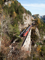 The ÖBB 1116 150 seen between Breitenstein and Wolfsbergkogel
