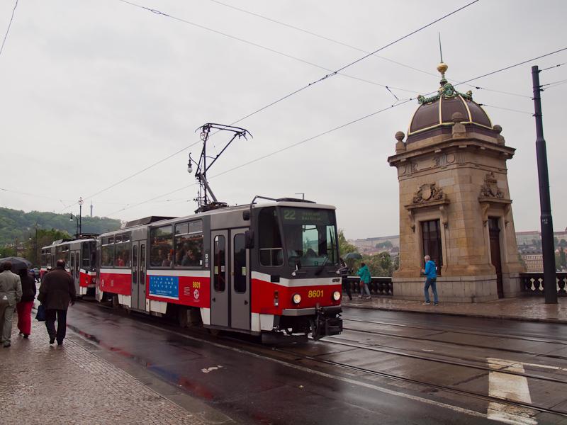 A 8601-es Tatra T6A2 a Most fotó