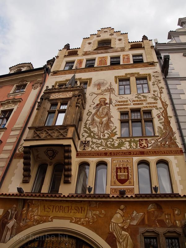 Prága - ház az Óvárosi tére fotó