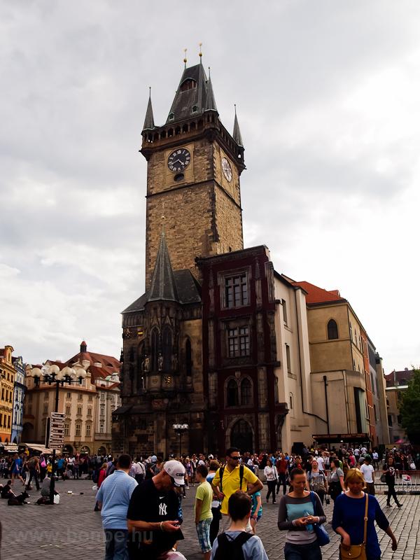 Prága - a régi városháza az fotó