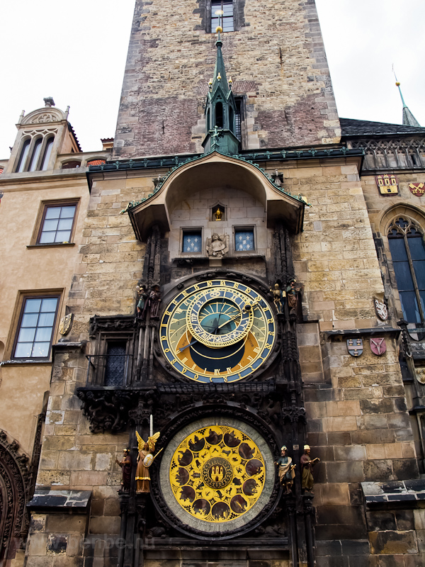 Prague - the Orloj, the astronomical clock at Old Town square (Staromestské námestí) photo
