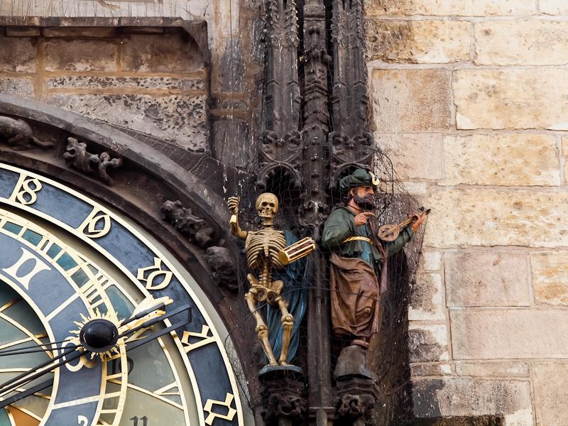 Prága - az Orloj, a csillag fotó