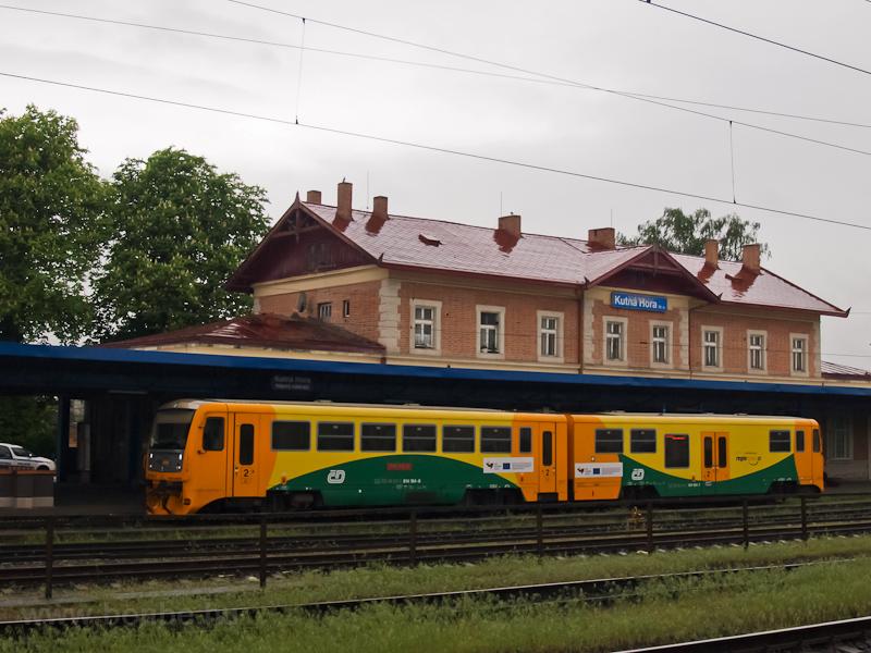 A ČD 814 184-8 Kutná Hora állomáson fotó