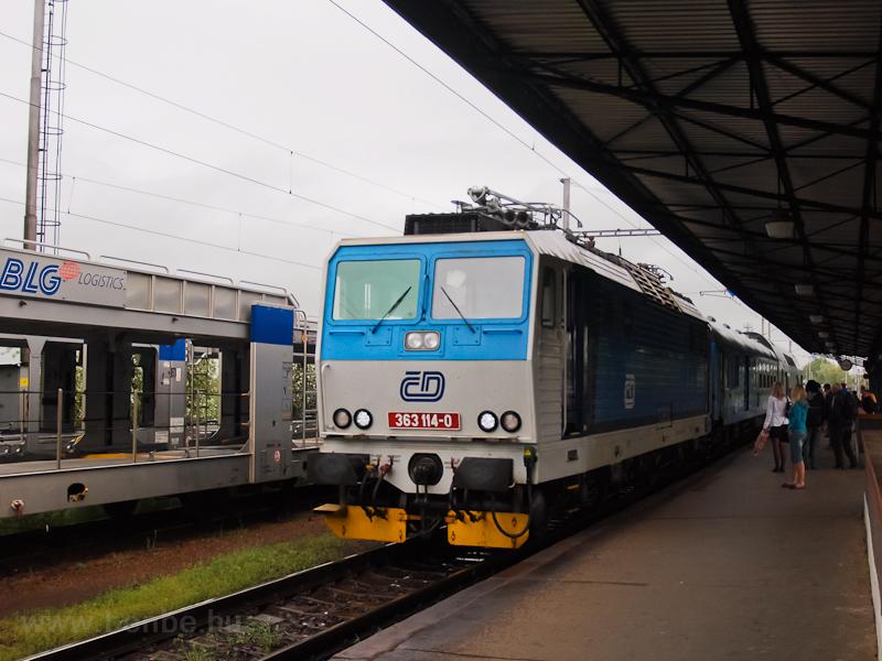 A ČD 363 114-0 Kutná Hora állomáson fotó