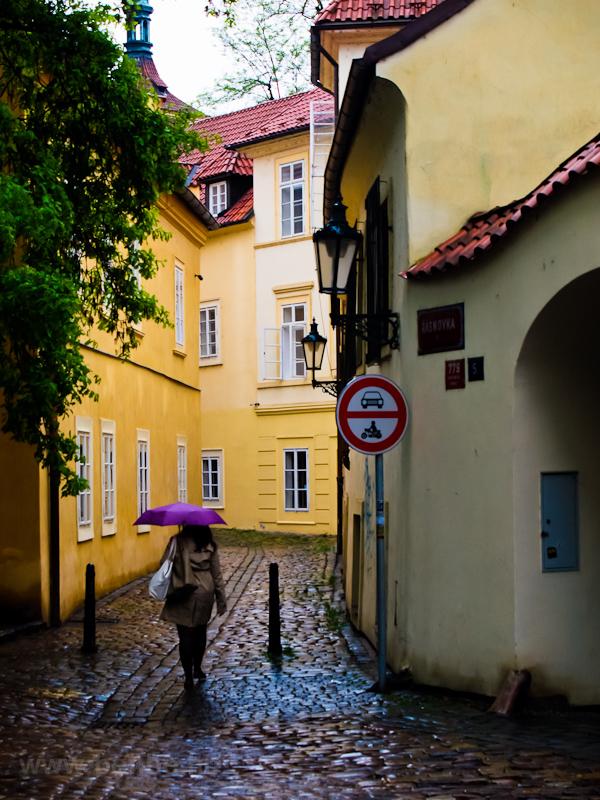 A narrow alley at Prague photo