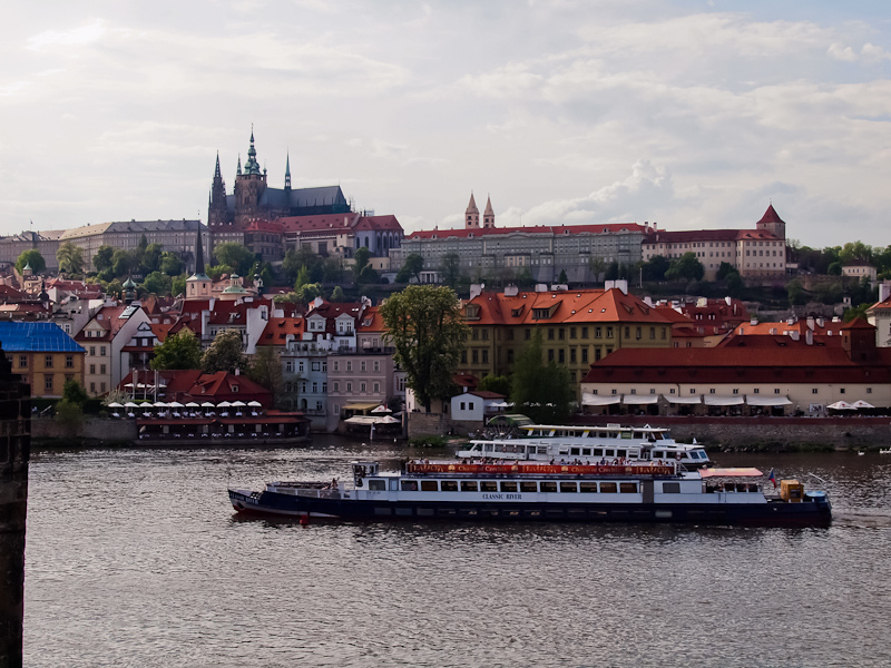 The Hrad and some riverboats on the Vltava photo