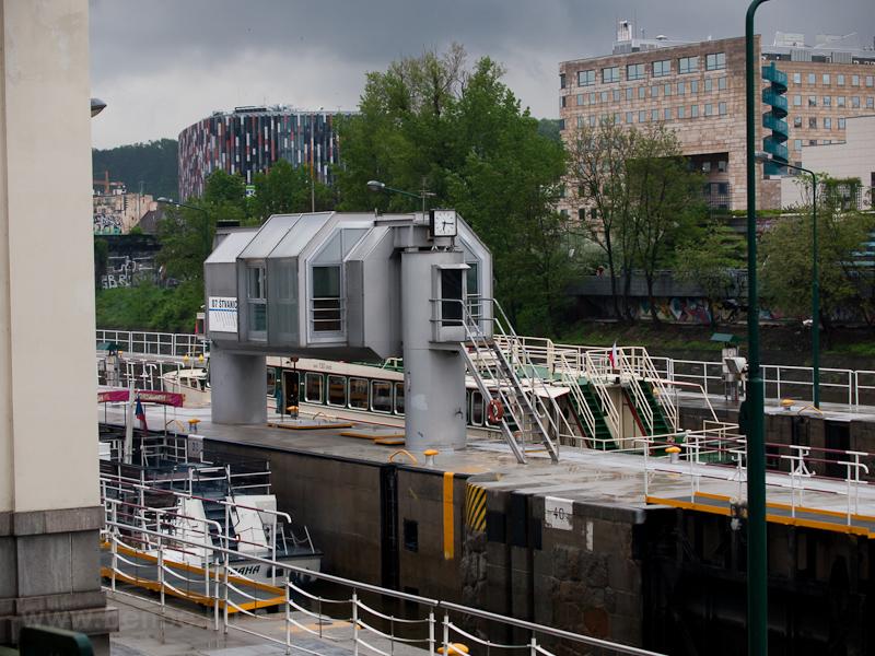 A Štvanice-zsilip Prág fotó