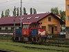 A ČD Cargo 708 008-8 pályaszámú <q>LEGO</q> mozdony Kutná Hora állomáson
