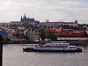 The Hrad and some riverboats on the Vltava