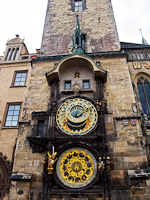 Prague - the Orloj, the astronomical clock at Old Town square (Staromestské námestí)