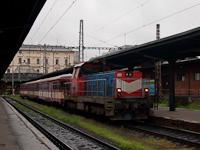 A ČD 714 214-4  Nagylegó  Prága Masarykovo állomáson