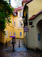 A narrow alley at Prague