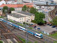 A ČD 971 072-4 Praha Masarykovo nádraží-ra érkezik