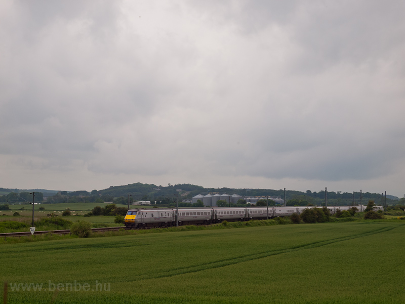 An East Coast IC225 trainset seen near Belford on the East Coast Main Line photo