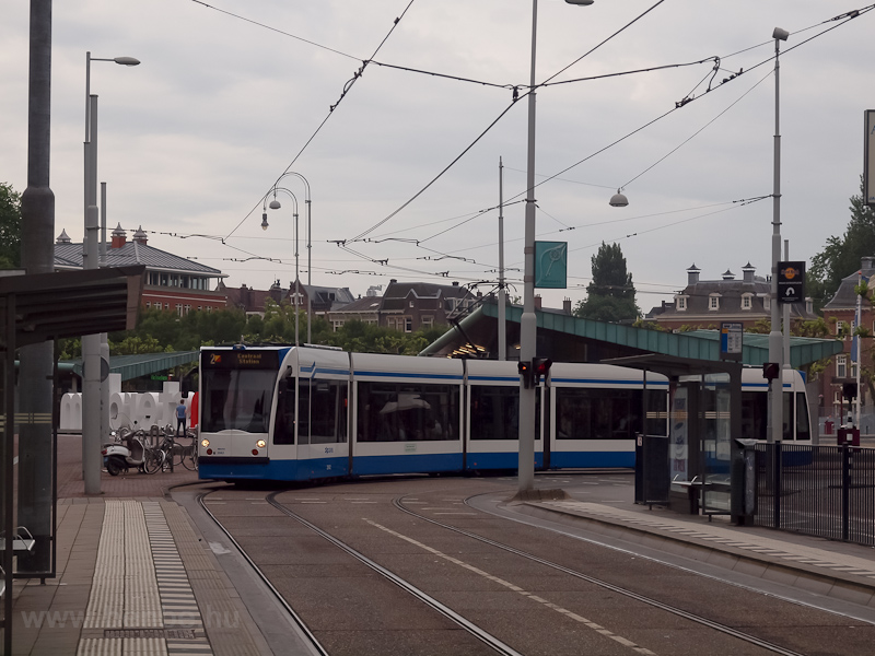 A Combino tram at Amsterdam photo