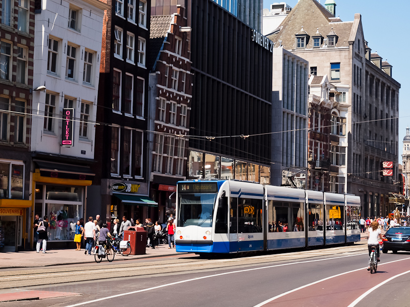 Tram at Amsterdam photo