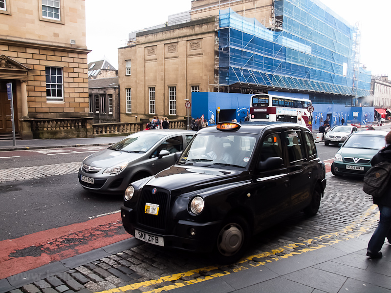 Taxi at Edinburgh photo