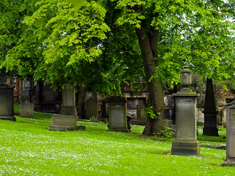 The Greyfriars cemetery at  photo