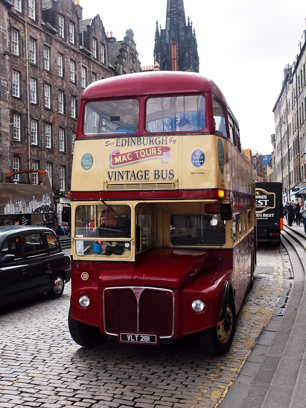 Double-decker sightseeing bus at Edinburgh photo