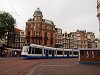 The GVB Combino number 2203 seen at Amsterdam at the banks of Singel