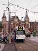 Trams near Amsterdam Centraal Station