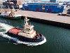 Amsterdam port: the Friesland tug