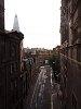 Félelmetesen kihalt utca Edinburghben