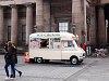 Old-timer fagyiskocsi Edinburghben