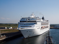 Amsterdam port: the MSC Opera cruiseship