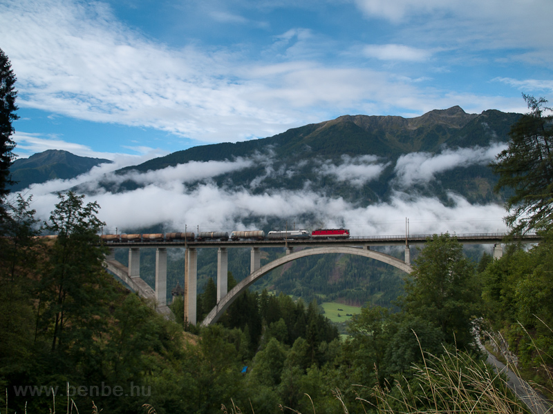 A freight train helped by a photo