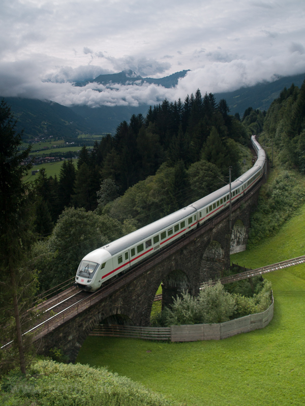 A DB InterCity  seen betwee photo