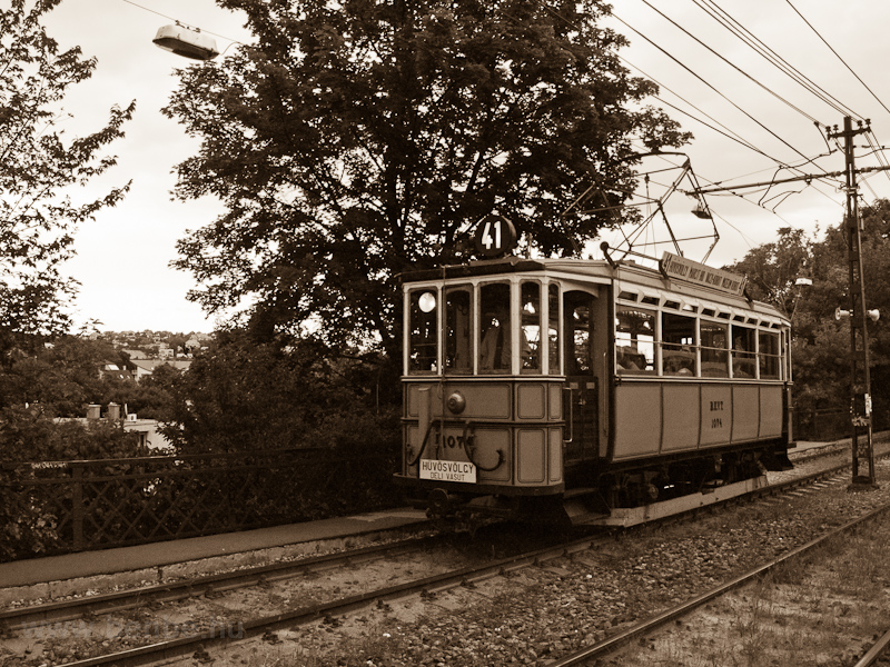 Historc tram on the line to picture