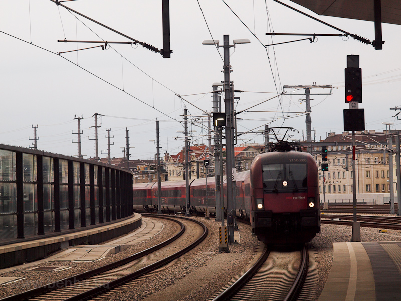 The ÖBB 1116 206 seen at eh photo