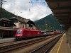 Az ÖBB 1216 129 Mallnitz-Obervellach állomáson a Tauernschleuse alagútpótló autószállító ingavonattal