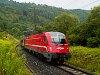 Szlovén 541 sorozatú mozdonnyal húzott tehervonat Möllbrücke-Sachsenburg és Markt Sachsenburg között a Drautalbahnon