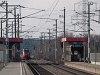 Egy ÖBB 4124  Pándorfalu község megállóhelyen éppen Nezsider felé fordul az új, Bruck felőli bekötésen