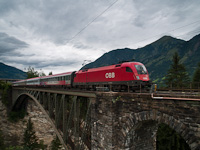 The ÖBB 1116 158-5 seen between Bad Hofgastein Haltestelle and Angertal on the old Angerschluchtbrücke