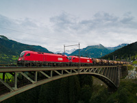 The ÖBB 1116 170-0 seen between Angertal and Bad Hofgastein Haltestelle on the old Angerschluchtbrücke