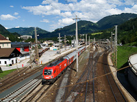 The ÖBB 1116 132-0 seen at Schwarzach-St. Veit