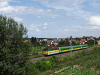 The GYSEV V43 327 seen between Kópháza and Harka