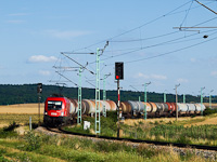 The ÖBB 1116 087 seen between Müllendorf and Neufeld a/d Leitha