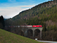 An ÖBB 2016  seen between Aspang Markt and Ausschlag-Zöbern on Ungarbach I viadukt