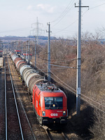 The ÖBB 1116 184-1 seen between Parndorf Ort and Parndorf