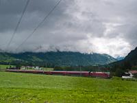 Egy ÖBB 1116 railjet-szerelvénnyel Braz és Bludenz között