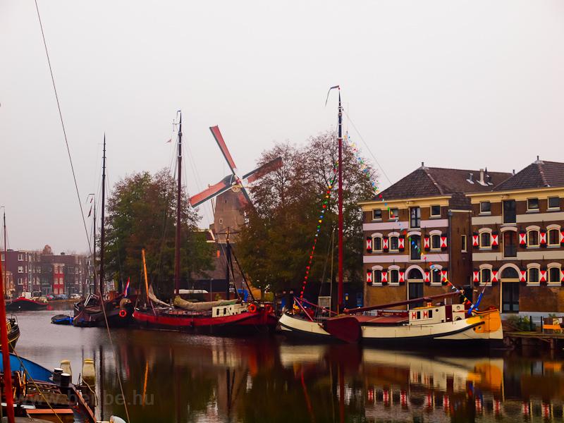 Gouda, a múzeumkikötő (Museumshaven) fotó