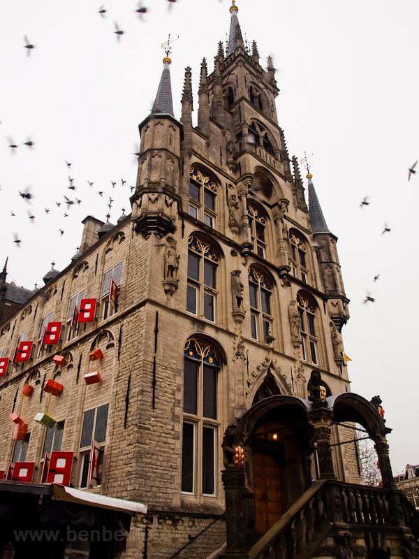 The gothic Town Hall of Gouda at the Marketplace photo