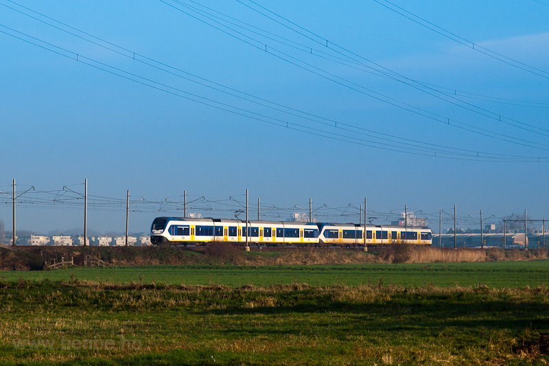 Two four-part NS Sprinter LightTrain multiple units seen between De Vink and Voorschoten photo